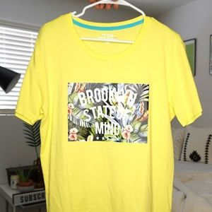 "Yellow T-shirt ""Brooklyn State of Mind"""